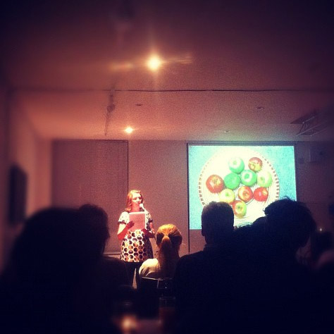 Robin Houghton presenting at Pecha Kucha Night Brighton