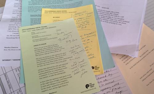 Aldeburgh Poetry Festival handouts