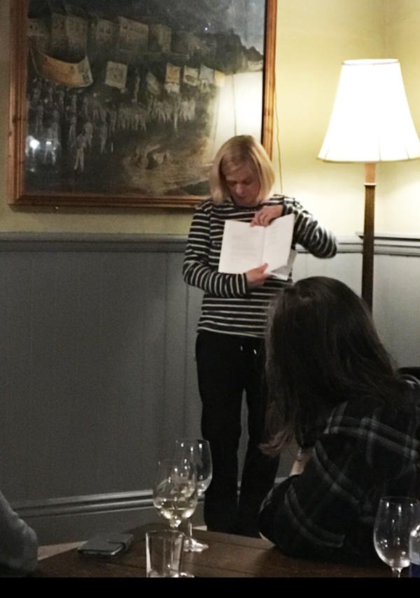 Charlotte Gann reading