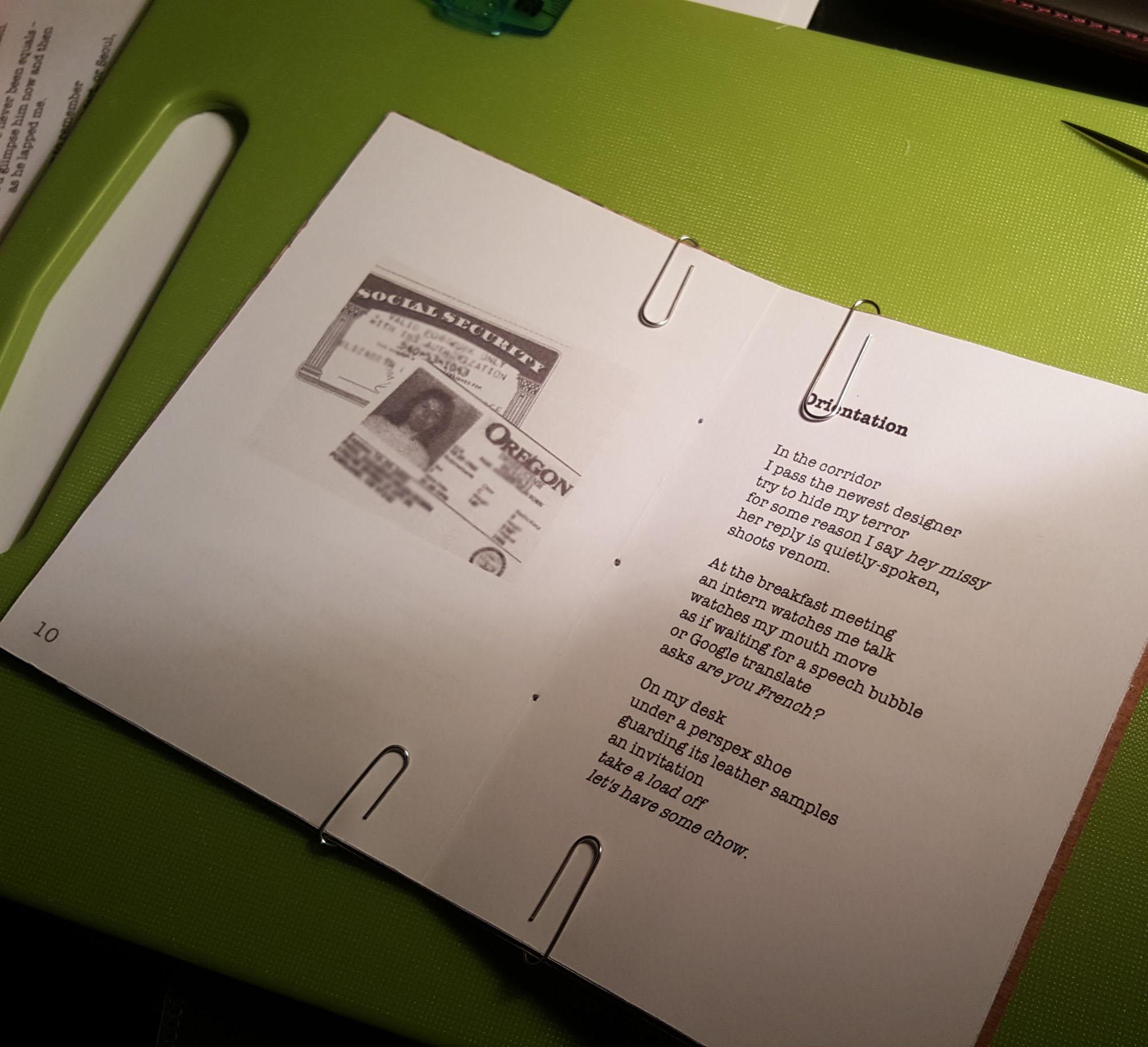 preparing to bind