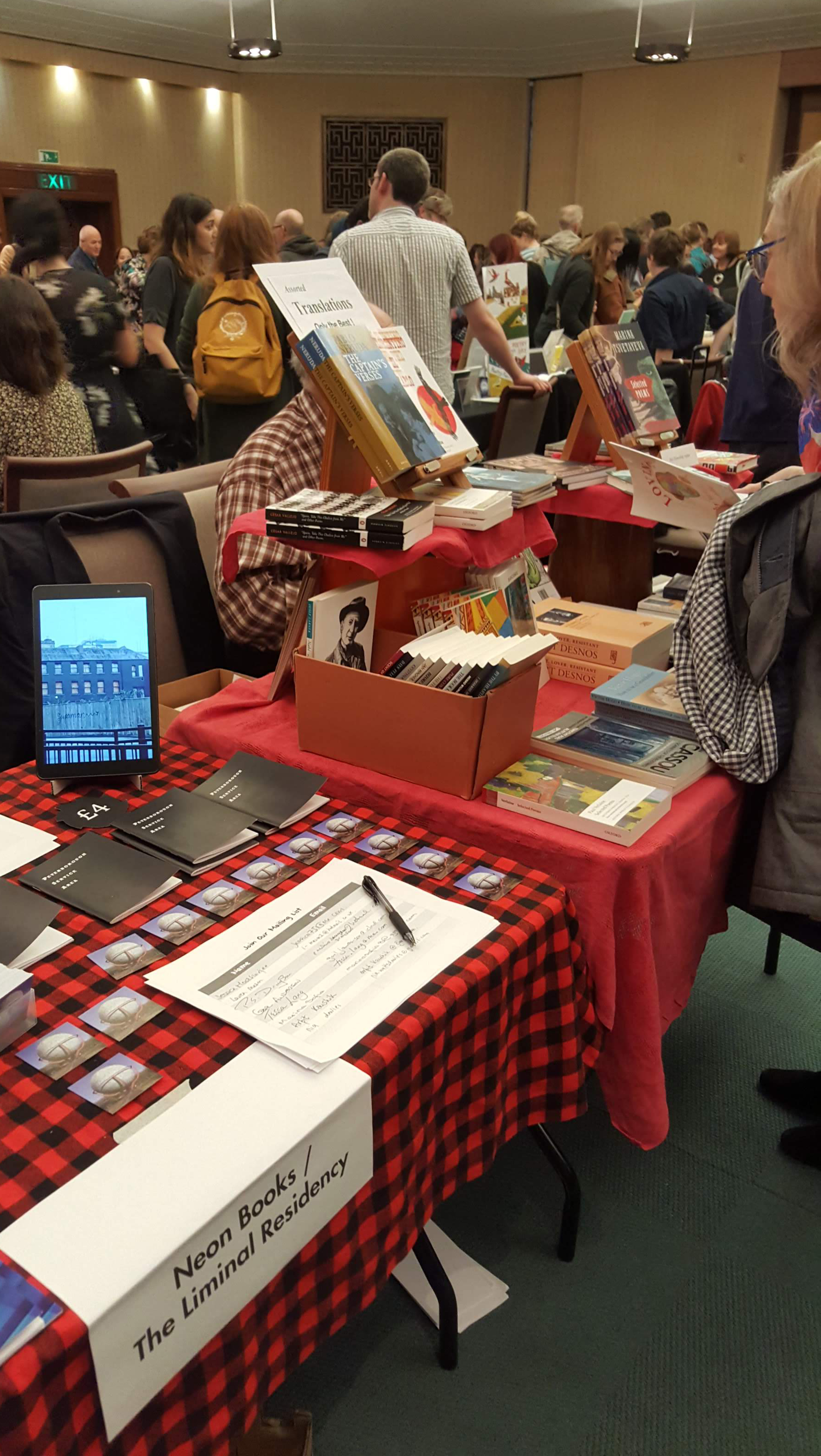 At the Poetry Book fair 2018