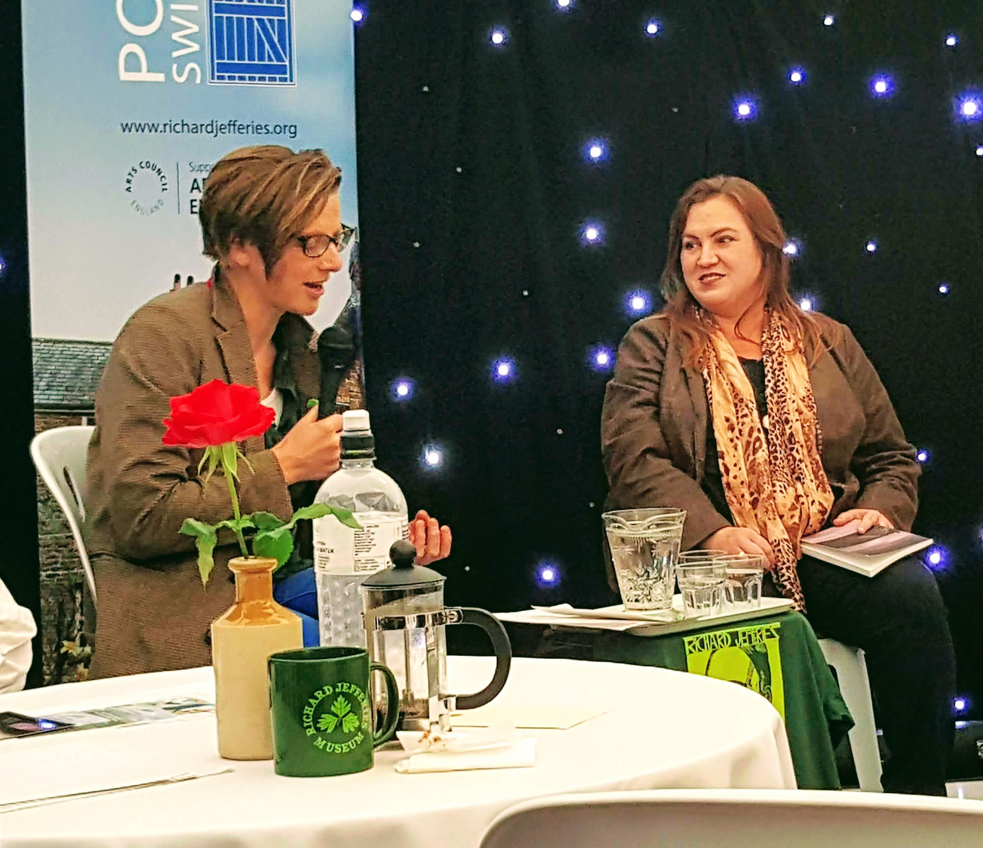 Clare Shaw interviews Carrie Etter at Poetry Swindon Festival