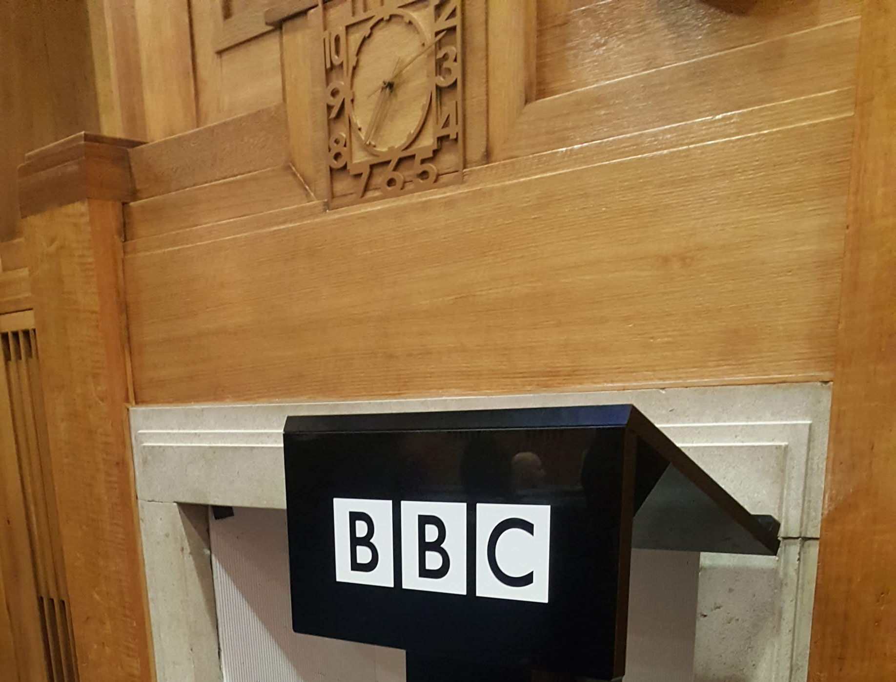 Art Deco fireplace at the Beeb