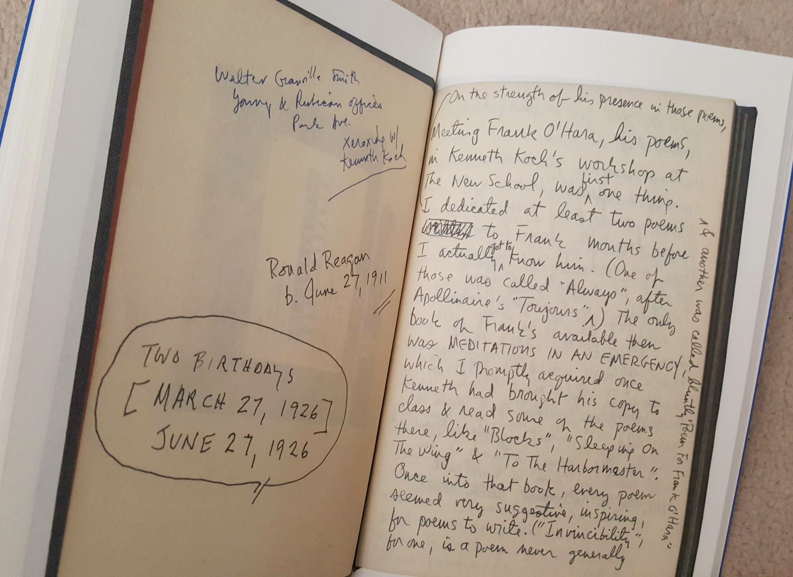 a frank o'hara notebook