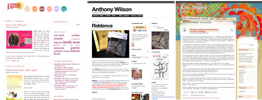Triptych of poetry blogs