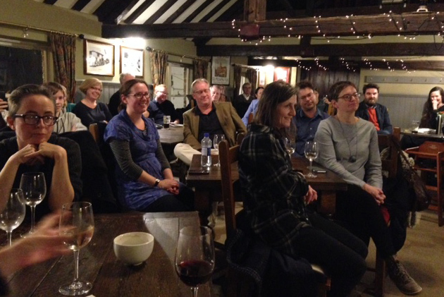 audience at Charlotte's reading