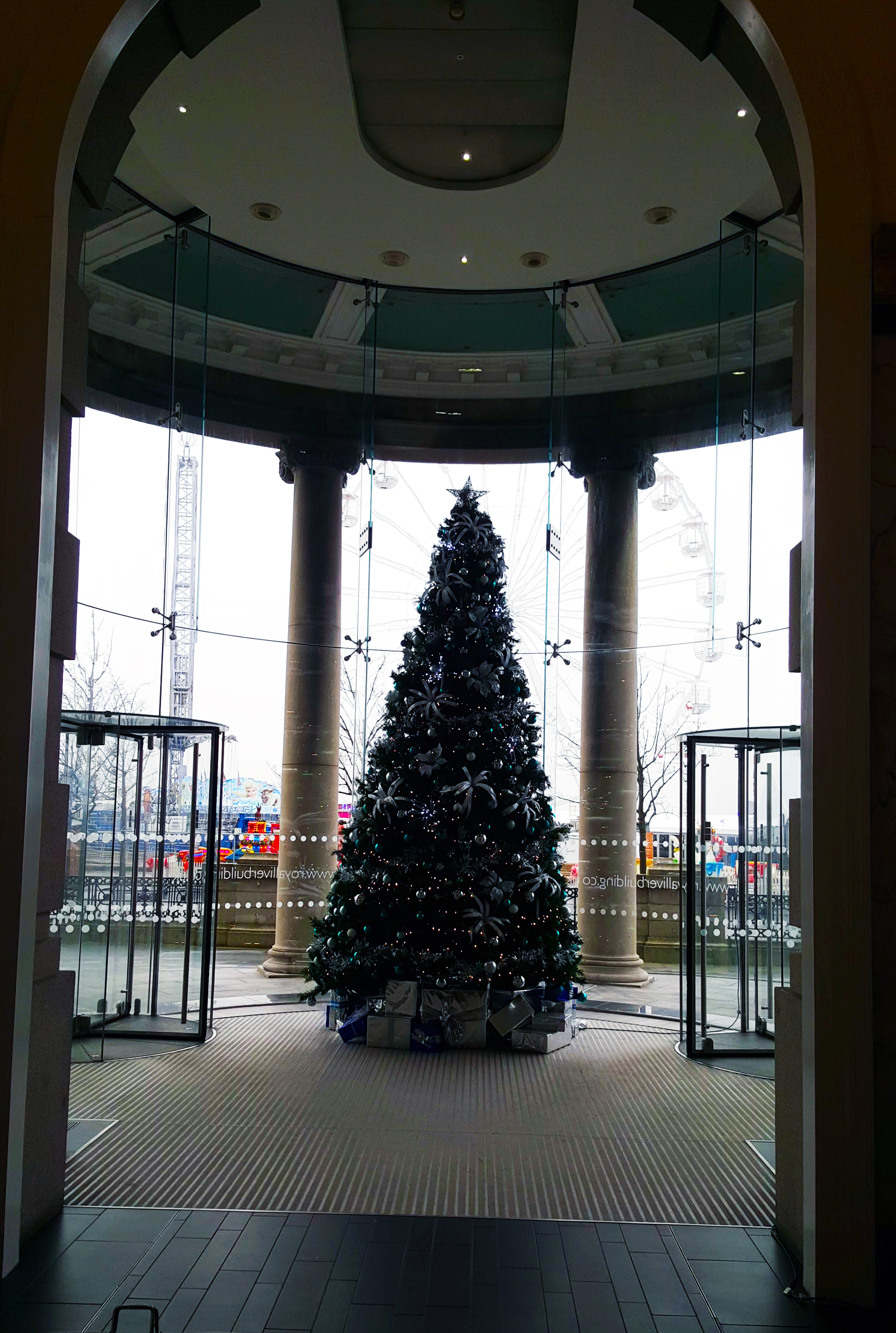 From inside the Liver Building in Liverpool