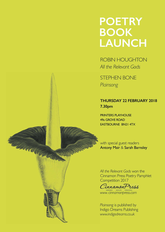 Poetry book launch flyer
