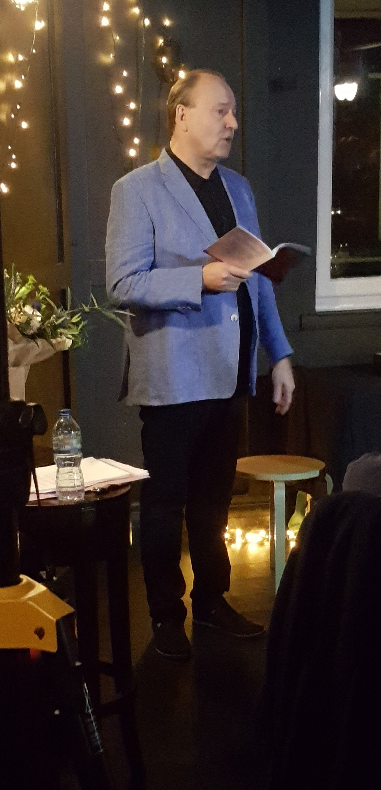 Stephen Bone at the launch of Plainsong