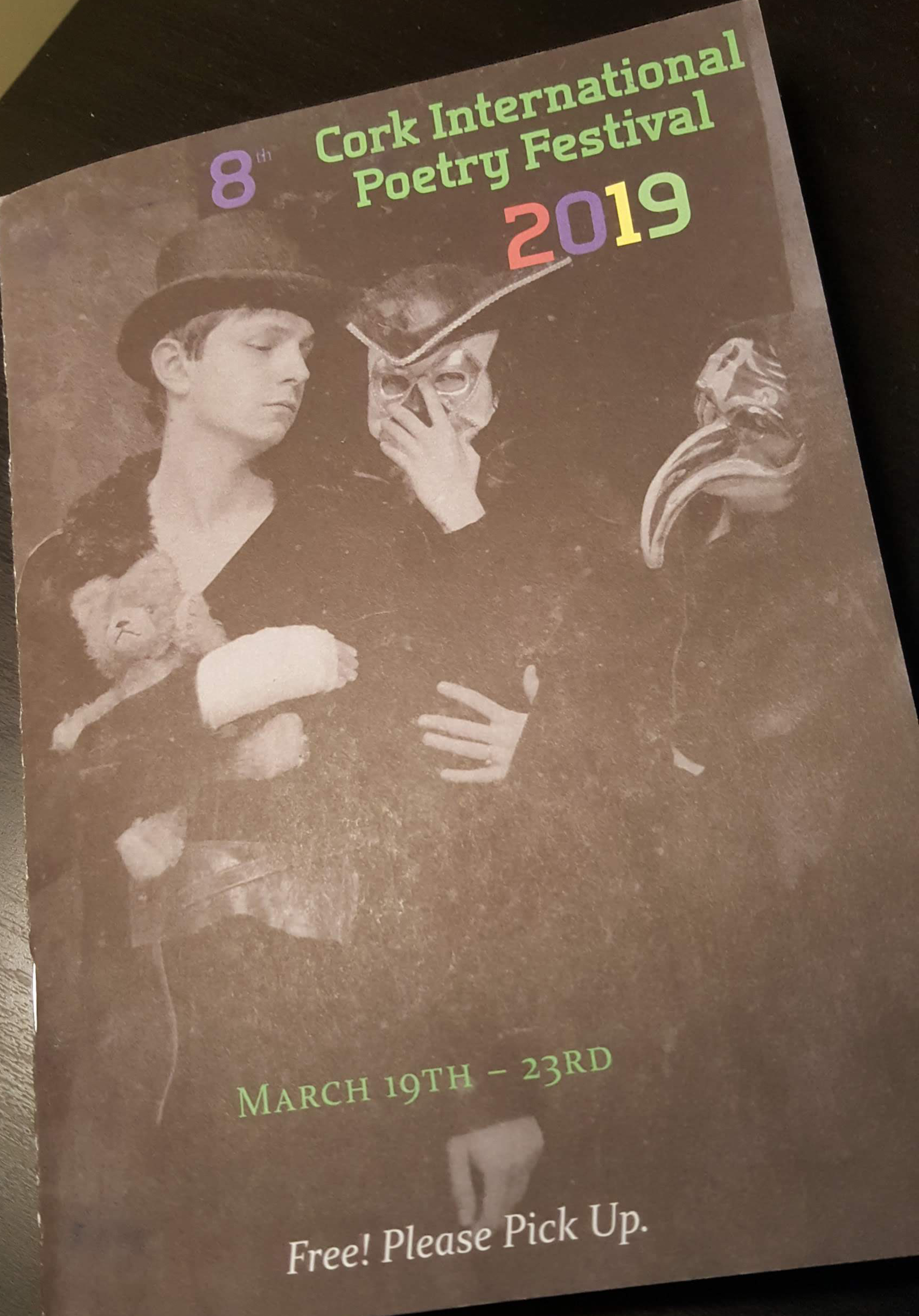 Cork Poetry Festival programme