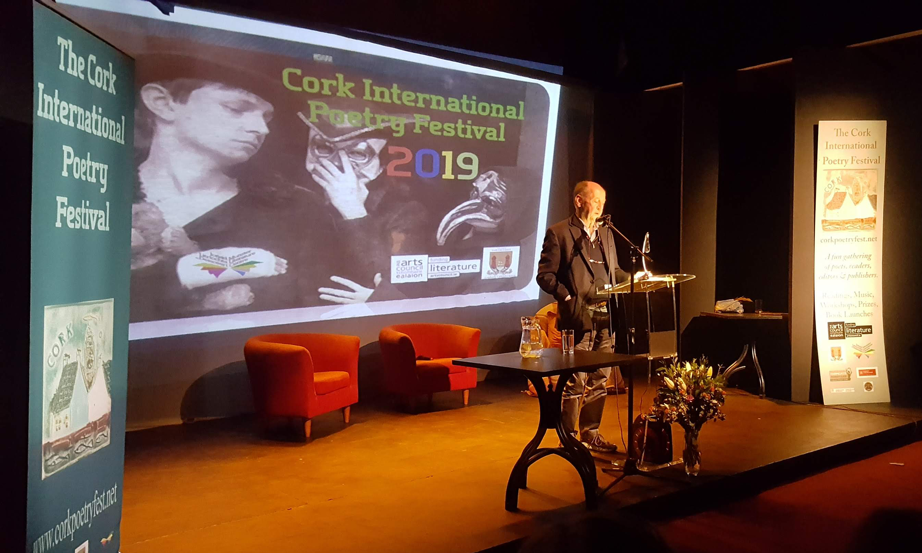 Billy Collins reading at Cork Poetry Festival