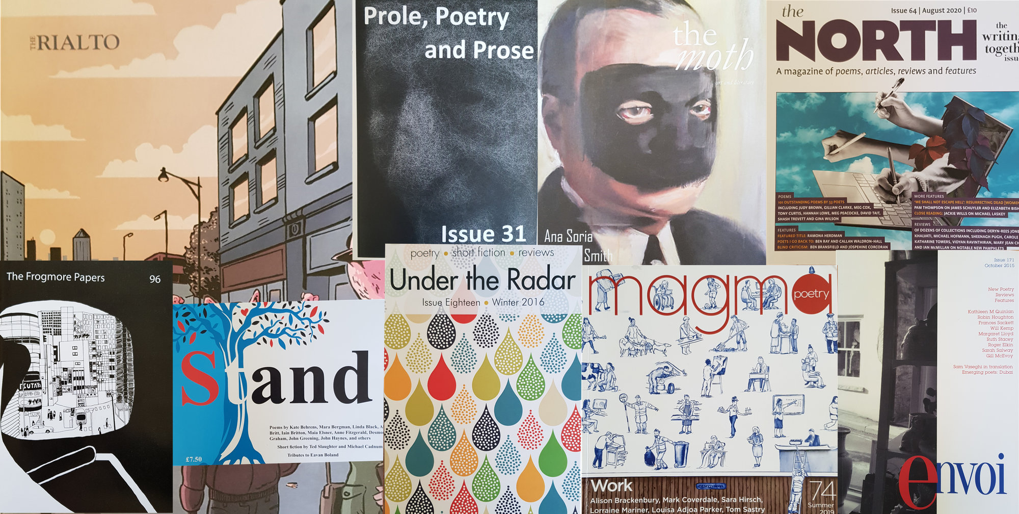 some of the magazines where Robin Houghton has has poems published