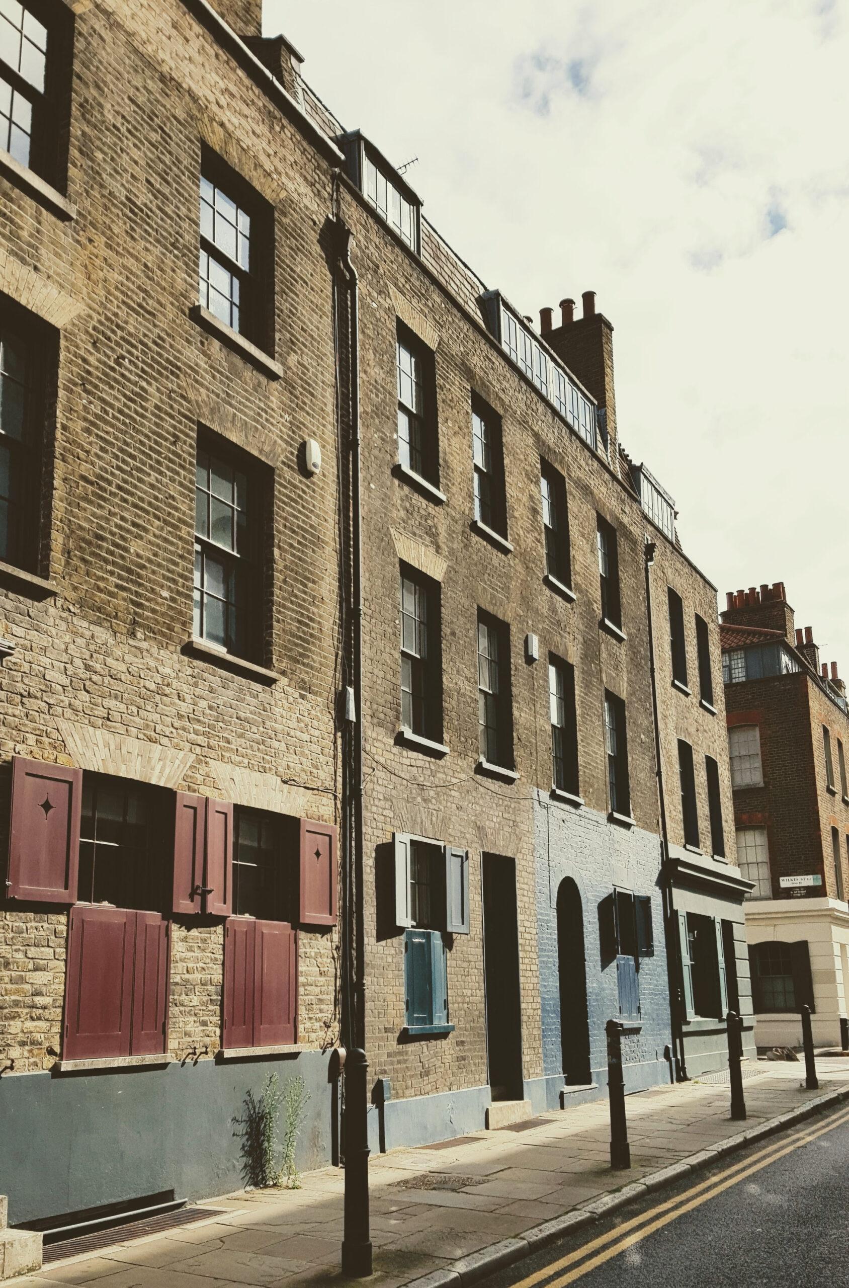 Gorgeous Huguenot houses in Fournier Street, Spitalfields, London