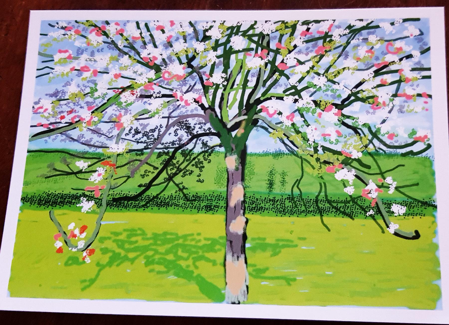 David Hockney number 209, 17th April 2020